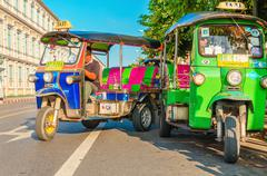 Colorfull taxi - Bangkok tourist attractions - stock photo