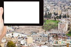 tourist photographs of Amman city, Jordan - stock photo