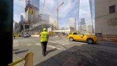 People Crossing New York Street 4K Stock Footage