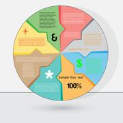 Vector illustration can be used for success business diagram infographic for  Stock Illustration