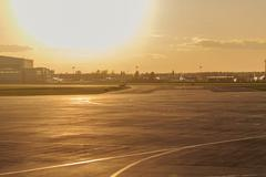 Airstrip at the airport - stock photo