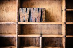 WWI Concept Wooden Letterpress Theme Stock Photos