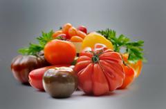 Assortment of tomatoes Stock Photos