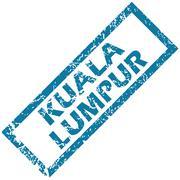 Kuala Lumpur rubber stamp - stock illustration