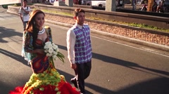 May flower pageantry Stock Footage