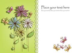 Stock Illustration of Beautiful flower card