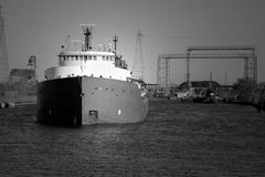 Detroit River Shipping Stock Photos