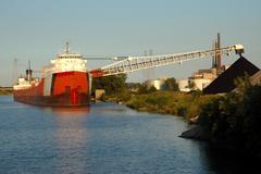 Coal Ship Unloading Stock Photos