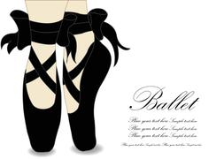 Stock Illustration of Ballet shoes, Vector illustration