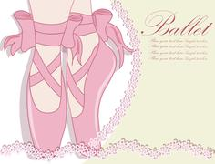 Ballet shoes, Vector illustration - stock illustration
