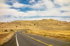 road to Meteor Crater in Winslow Arizona USA - stock photo