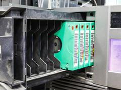 streamer, tape library for data backup - stock photo