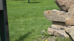Balancing rocks - tracking shot Stock Footage