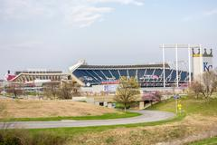 Football and baseball  sports stadium Stock Photos