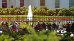 Dolly Shot White House Washington DC Stock Footage