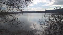 Lake Kerkini, Greece. Zoom Out Stock Footage