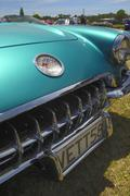 Metallic green Classic Chevrolet Corvette - stock photo