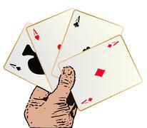 Winning Hand Stock Illustration