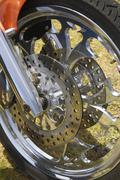 Chromed front wheel and brakes from custom motor cycle Kuvituskuvat