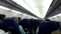 Passengers Inside Airplane Stock Footage