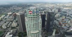 US Bank Tower Horizontal Tracking Stock Footage