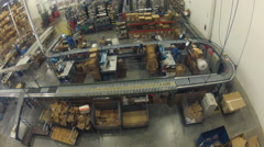 Time lapse of a shipping warehouse Stock Footage