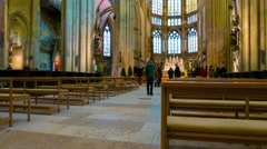The interiour of the Regensburg Cathedral Stock Footage