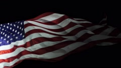 American Flag in Slow motion. Stock Footage