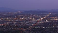 Stock Video Footage of Downtown Phoenix Sunrise Aerial
