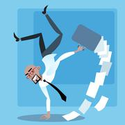 African businessman rejoices success transaction - stock illustration