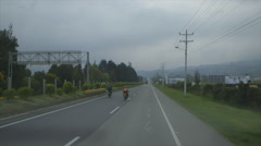 Vehicles moving on road Stock Footage