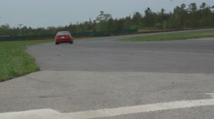 Cars enter racetrack - ShannonVille RaceTrack May 19th Stock Footage