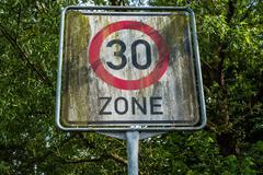 30 Zone Sign Stock Photos