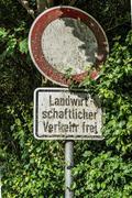 Landwirtschaftlicher Verkehr frei sign Stock Photos
