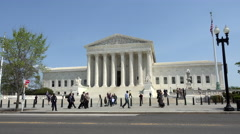 Washington DC US Supreme Court Building traffic 4K 033 - stock footage