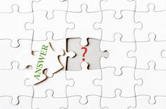 Business concept image of Missing jigsaw puzzle piece Stock Photos