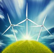wind energy - stock illustration