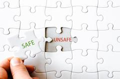 Business concept image of Missing jigsaw puzzle piece - stock photo