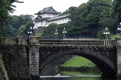 Nijubashi Bridge, Emperor's Imperial Palace, Chiyoda-Ku Maranouchi, Tokyo Jap - stock photo