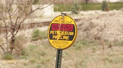 Stock Video Footage of Petroleum Warning Sign