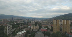 Aerial Shot of Sarajevo Bosnia and Herzegovina Stock Footage