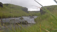 Headwaters of Seljalandsfoss Waterfall, ICELAND  Stock Footage