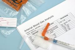 Arterial Blood Gas Syringe - stock photo