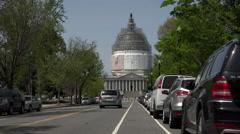 Washington DC Nations Capitol Building traffic 4K 022 Stock Footage