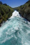 Huka Falls on the Waikato River Taupo New Zealand Stock Photos