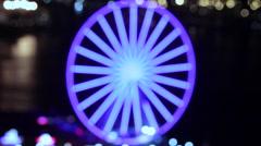 Big Ferris Wheel Waterfront Seattle Washington Stock Footage