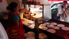 Making tacos, El Pitillal, Puerto Vallarta, Jalisco, Mexico. - stock footage