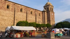 Our Lady of Purisma Concepcion, Church, Town of Tequila, Jalisco, Mexico Stock Footage