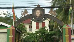 Bob Marley Museum, 56 Hope Road, Kingston Stock Footage