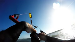 Kitesurfer POV Stock Footage